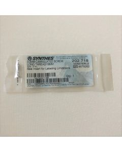 Synthes 202.718 3.0mm Cannulated Screw Long Thread/18mm